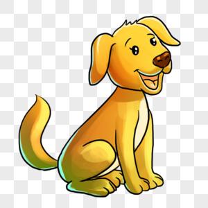 蹲着的狗图片