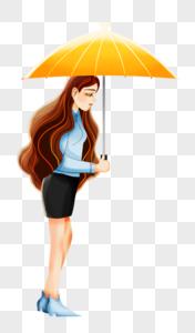打伞的女人图片