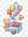 拉着气球的小熊图片