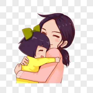 母亲节妈妈女儿温馨拥抱图片