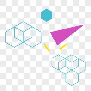孟菲斯风格几何形状基本形状图片
