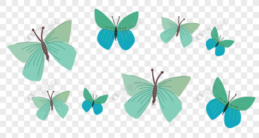科技手绘蝴蝶动漫人物