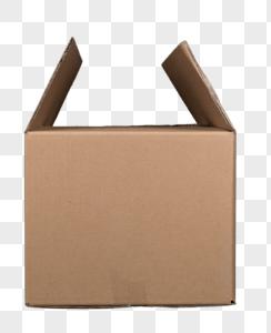 中号瓦楞纸包装箱免抠图元素图片