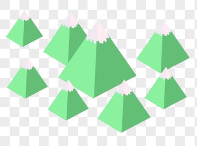 扁平风格群山图片