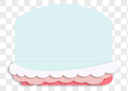 蛋糕形状背景装饰图片