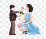 给母亲送花的孩子图片