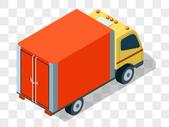 红色的卡车图片