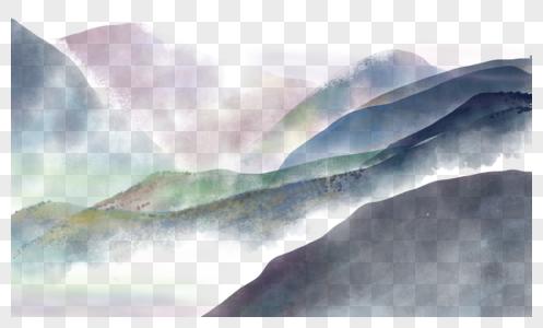 水墨画群山图片