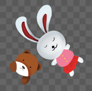 儿童玩具小兔子小熊图片