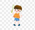 夏季男孩图片
