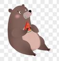 吃西瓜的熊图片