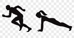 运动人物剪影图片