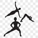 运动健身人物剪影图片