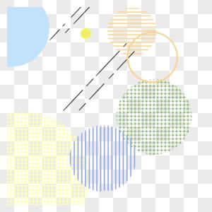 孟菲斯风格线条点线面几何形状素材图片