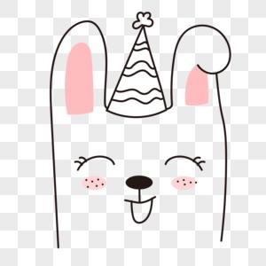 卡通狗狗儿童涂鸦线条简笔画图片