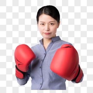 带着拳击手套的职场女强人图片图片