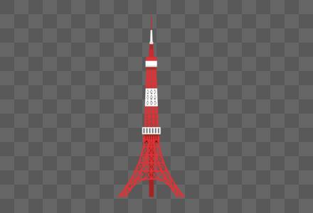 日本建筑东京塔图片