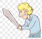 黄发老外舞剑图片