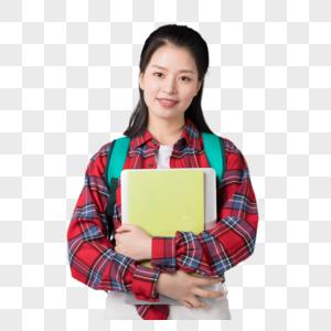 背着书包抱着书的大学生图片图片