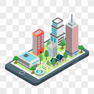 手机城市大楼图片