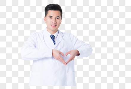医生手势摆爱心动作图片