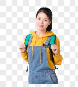 背着书包的学生形象图片图片