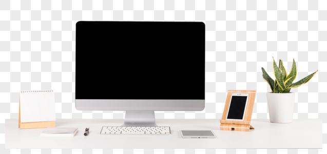 简约的电脑办公桌图片