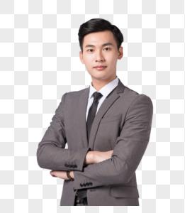 自信微笑的商务男士图片
