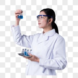 科学家手拿烧杯做研究图片图片