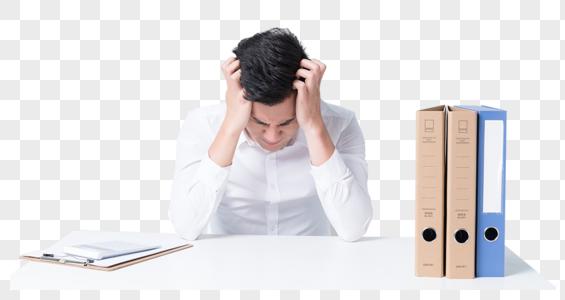 商务白领办公桌抓狂崩溃压力大图片图片