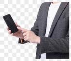 商务男士手拿手机特写图片图片
