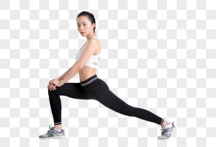 年轻女性运动健身拉伸准备动作图片图片
