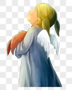 女孩天使图片