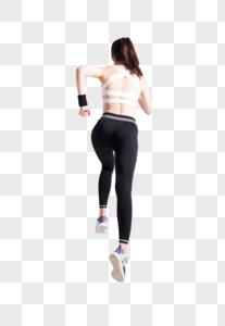 奔跑跑步的运动女性背影图片图片