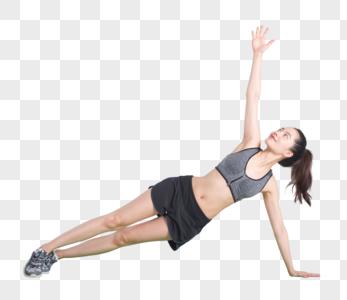 运动健身女性舒展肢体训练图片图片