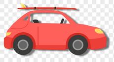 红色的汽车图片