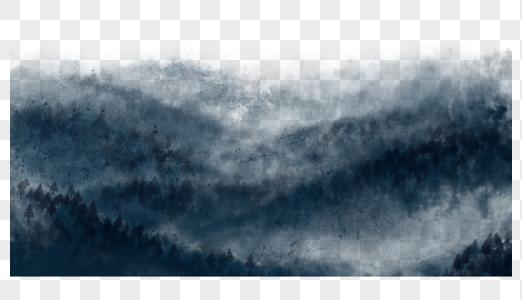 水墨画远山图片