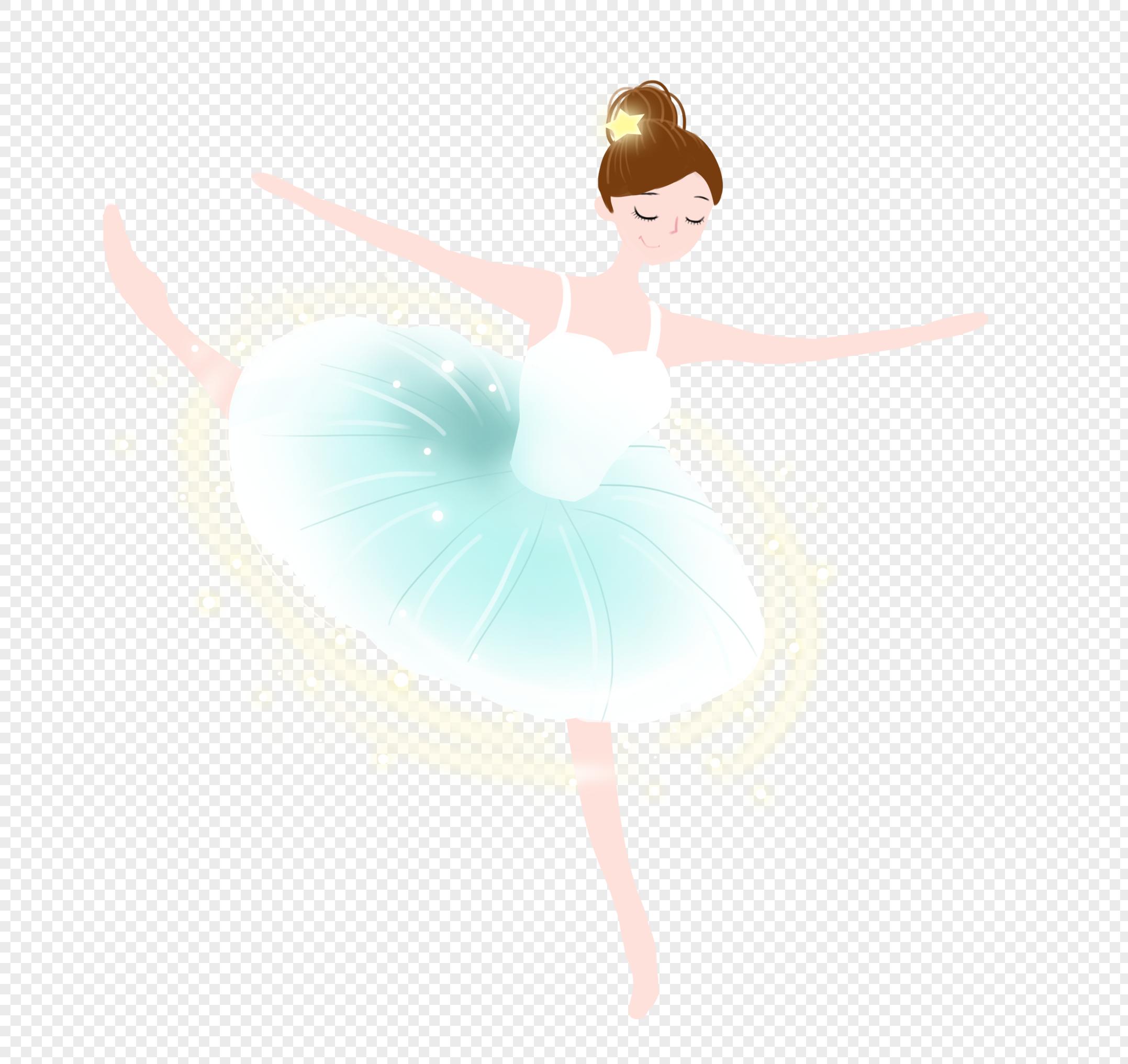 图片 素材 手绘/卡通元素 芭蕾舞女孩.