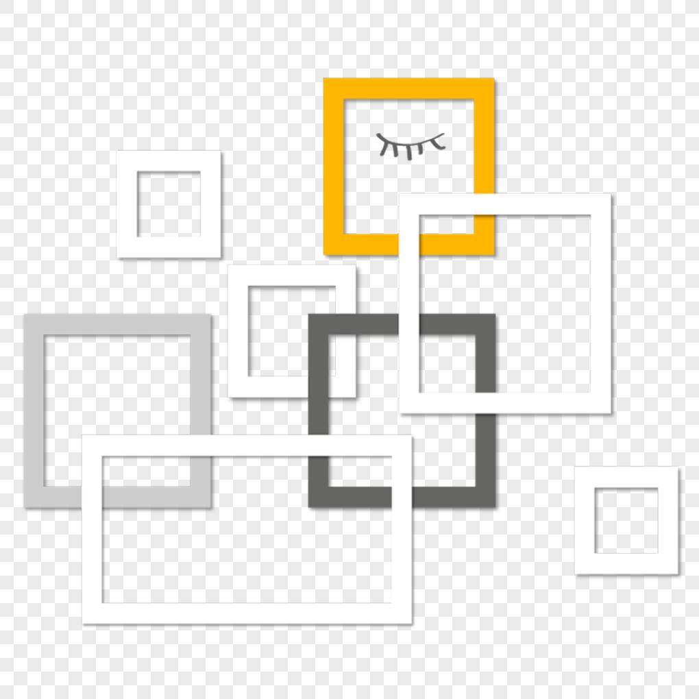 立体方框元素素材png格式_设计素材免费下载_vrf高清