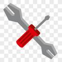 维修工具 扳手螺丝刀图片