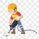 电钻工人图片