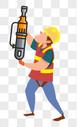 工地施工的工人图片