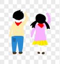 小学生背影图片
