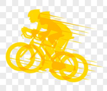 骑山地自行车剪影图片