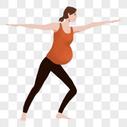 孕妇瑜伽图片