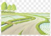 乡间田野插画元素图片
