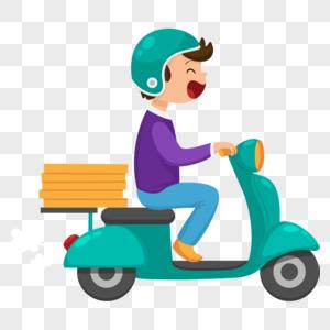 骑摩托车的男孩图片