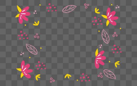 玫红色花纹底纹装饰图片