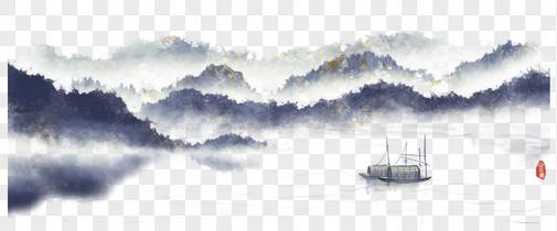 我国风水墨山水画图片