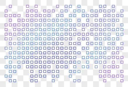 蓝色马赛克方块图片